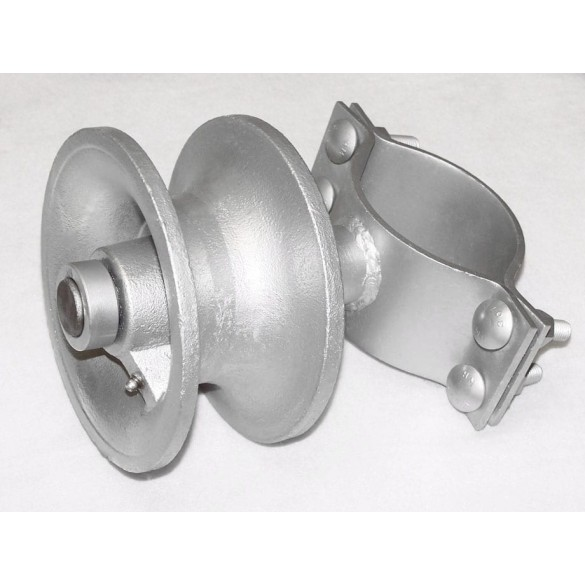 """3 1/2"""" X 2 1/2"""" Deluxe Malleable & Steel Cantilever Roller - DMCR-03525"""