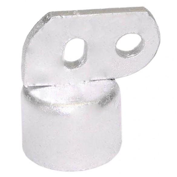 """2 1/2"""" Domestic Brace Rail End - Pressed Steel (Fits 2 3/8"""" OD)"""