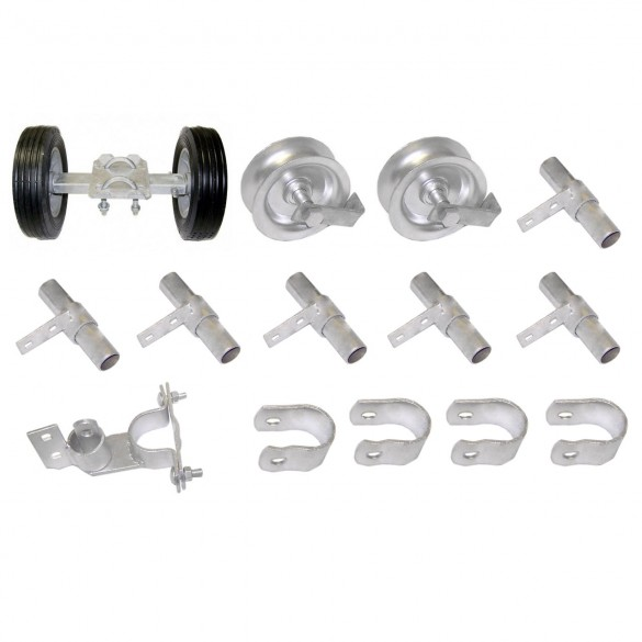 """Domestic Rolling Gate Hardware Kit with 12"""" Wide Carrier"""