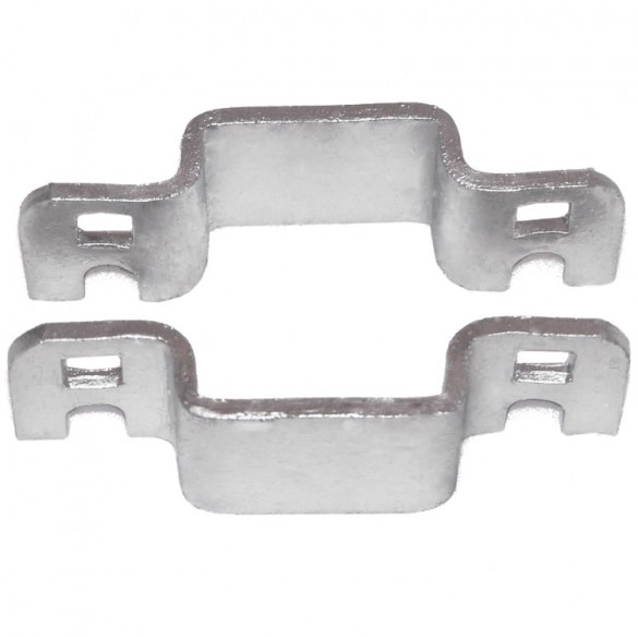 "1"" Domestic Square Collars - Pressed Steel"