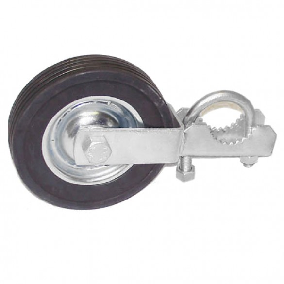 "Domestic Swing Gate Rollers with 8"" Rubber Wheels"