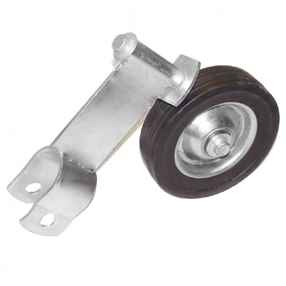 "2"" Domestic Swivel Gate Rollers with 6"" Rubber Wheels (Fits 1 7/8"" OD)"