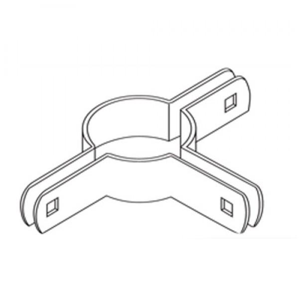"2 1/2"" Domestic Three-Way Beveled Brace Bands - 12 Gauge x 59/64"" (Fits 2 1/2"" OD)"