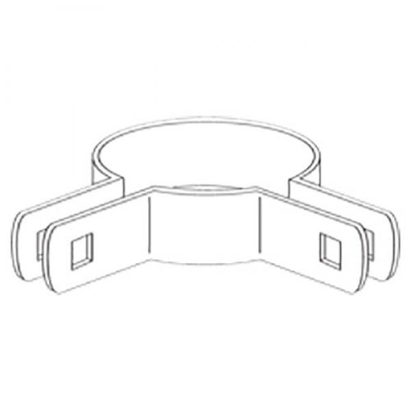 "2 1/2"" Domestic 90º Corner Beveled Brace Bands - 12 Gauge x 59/64"" (Fits 2 1/2"" OD)"
