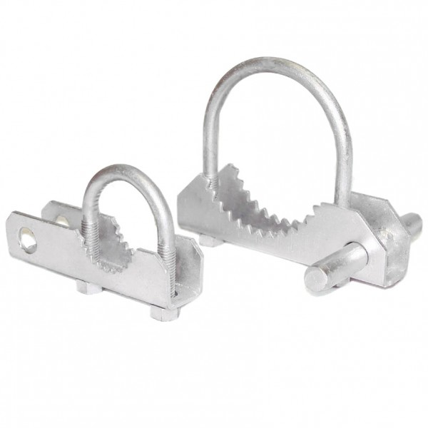 "6 5/8"" 180° Swing Gate Hinges - Pressed Steel"