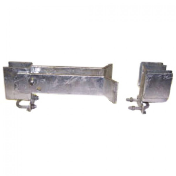 "2"" Domestic Industrial Double Gate Latches (Fits 1 5/8"" OD)"